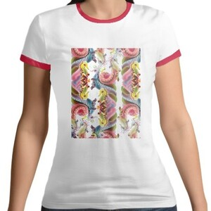 Women 's Cotton Color Round Neck T - shirt