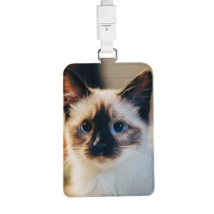 PU Leather Card Holder with Lanyard