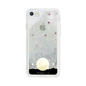 """MOON IN YOUR EYE"" iPhone 7 Glitter Liquid Glitter Case"