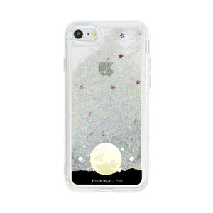 """MOON IN YOUR EYE"" iPhone 7 Glitter Liquid Glitter Case"