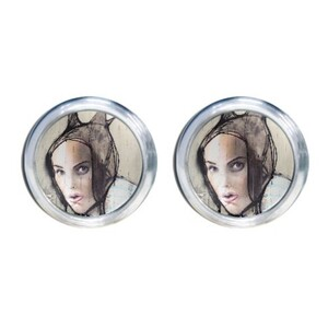 Round Stud Earrings