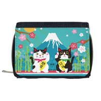 富士山下拉鍊錢包 (Mount Fuji Wallet with Coin Purse)
