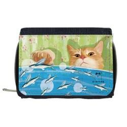 小黃貓的小飛魚拉鍊錢包(Cat & Fish Wallet with Coin Purse)