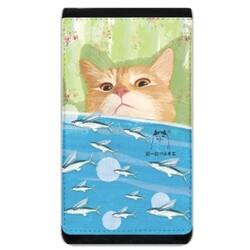 小黃貓的小飛魚手機袋錢包 (Cat & Fish Lanyard Phone Case Wallet)