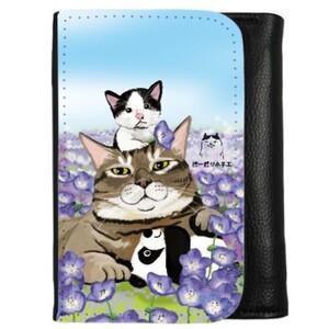 貓奶爸興孩子三摺錢包 (PU Leather Trifold Wallet)