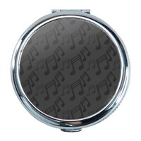 Music Note Round Compact Mirror (Small)