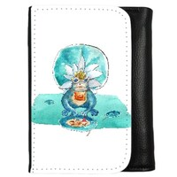 frog PU Leather Trifold Wallet