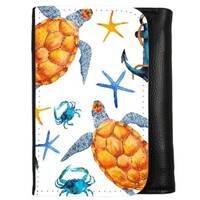 turtle PU Leather Trifold Wallet