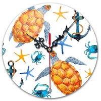 turtle Round Wall Clock