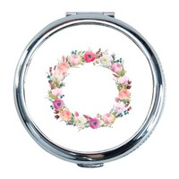 Flower Round Compact Mirror (Small)