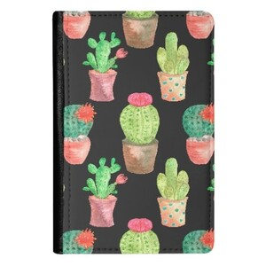 Cactus PU Leather Passport Holder
