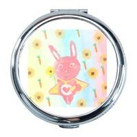 向日葵阿白兔兔 Round Compact Mirror (Small)