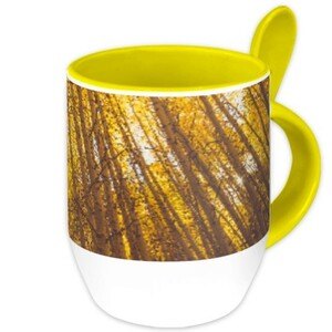 maple Mug with Spoon