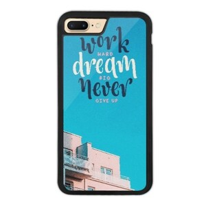 never give up iPhone 7 Plus Bumper Case