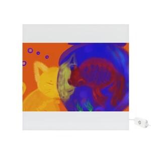 【貓與魚】只想與妳對望 Square Light Box