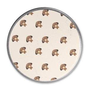 Dogs Round Metallic Tin