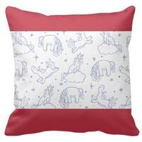 Unicorn Rectangle Shape Throw Pillow 16
