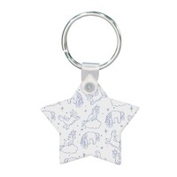 Unicorn Star Shaped Keychain