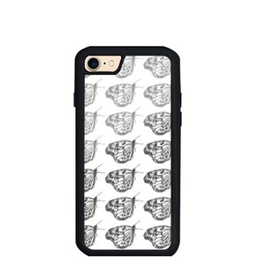butterfly iPhone 7 TPU Dual Layer  Bumper Case