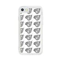 butterfly iPhone 7 Liquid Glitter Case
