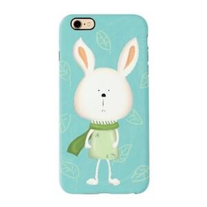 iPhone 7 TPU Dual Layer Protective Case - Scarf Bonny 圍巾小兔 (Green 湖水綠)