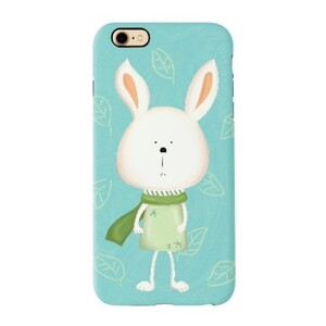 iPhone 7 TPU Dual Layer Protective Case - Scarf Bonny 圍巾小兔 (Green 湖水綠)