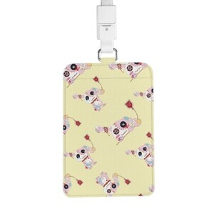 Rabbit.C PU Leather Card Holder with Lanyard