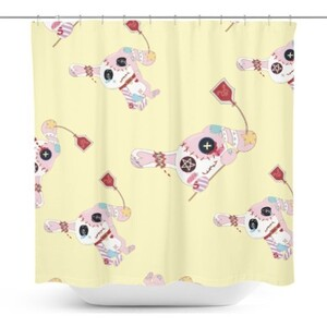 Rabbit.C Shower Curtain