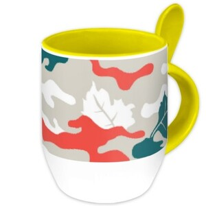 Camouflage Mug with Spoon