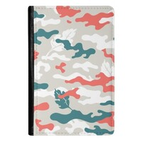 Camouflage PU Leather Passport Holder
