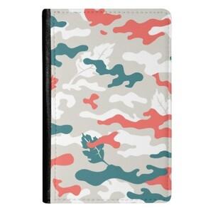 Camouflage PU Leather Passport Holder