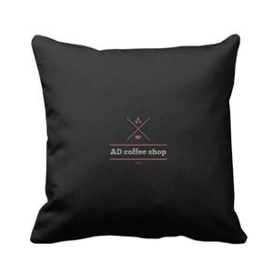 AD coffee shop 16x16吋抱枕 (黑)