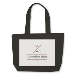 AD coffee shop 帆布手提袋