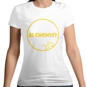 女裝棉質圓領T恤 RAT