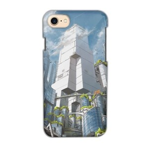 Green City iPhone 7 Glossy Case