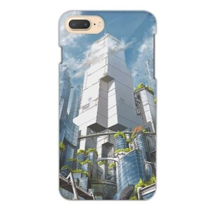 Green City iPhone 7 Plus Glossy Case