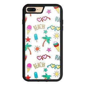 Summer beach iPhone 7 Plus TPU Dual Layer  Bumper Case