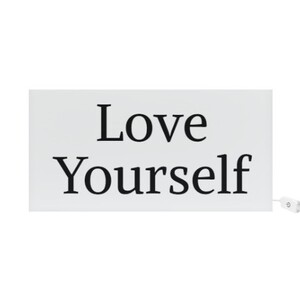 'LOVE YOURSELF' Rectangle Light Box