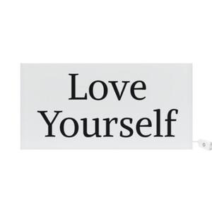 'LOVE YOURSELF' Rectangle Light Box