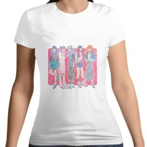 girls Women 's Cotton Round Neck T - shirt