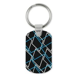 Geometric AE33 Rectangle Keychain