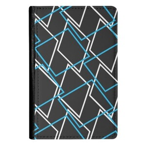 Geometric AE33 PU Leather Passport Holder