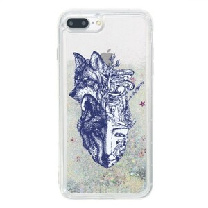 Wolf of my life style iPhone 7 Plus Liquid Glitter Case