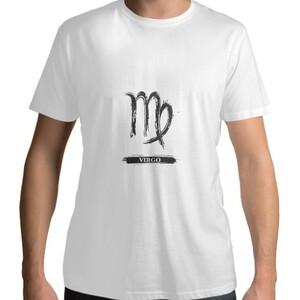 Virgo Men 's Cotton Round Neck T - shirt