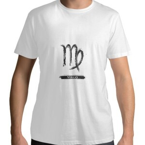Virgo Men 's Cotton Round Neck T - shirt