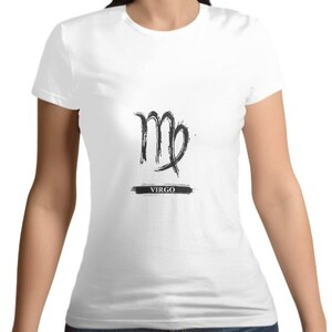 Virgo Women 's Cotton Round Neck T - shirt