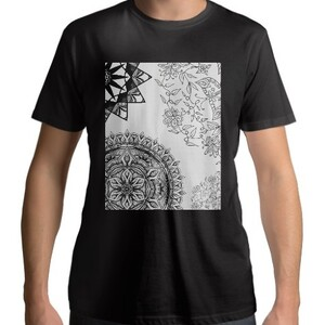 Black Mandala T - shirt