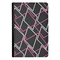 Geometric AE48 PU Leather Passport Holder