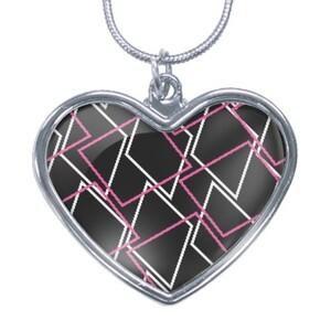 Geometric AE48 Heart Shaped Necklace