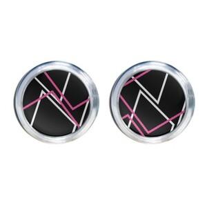 Geometric AE48  Round Stud Earrings